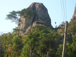 Subkhanalloh keindahan Gunung Langgeran Ciptaan Alloh yang Maha Kuasa