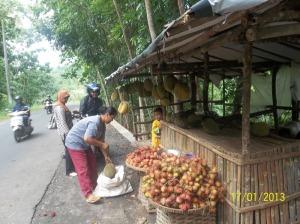 Gb Penjual rambutan dan durian