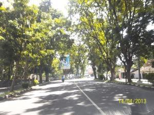 Gb. Perinang di kanan kiri jalan