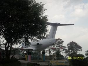 Gb. teater Alam di dalam pesawat terbang