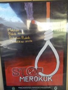 Gb. Slogan stop Merokok
